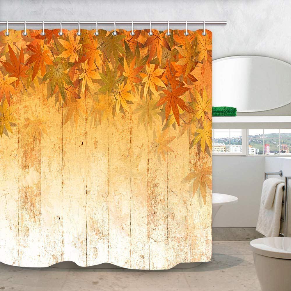 fall leaves shower curtain autumn