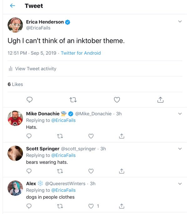 Erica Henderson On Twitter Okay Did A Hat Meme Just Happen