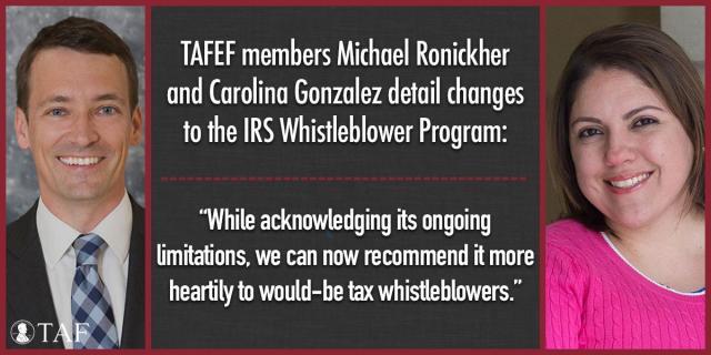 Image for the Tweet beginning: The IRS Whistleblower program has