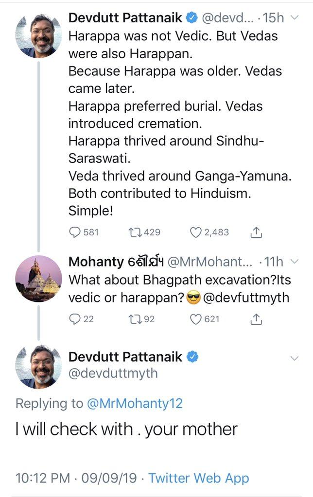 Image result for devdutt pattanaik vulgar tweets