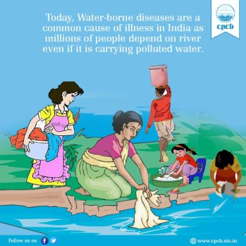 """Central Pollution Control Board on Twitter: """"Today, Water-borne ..."""