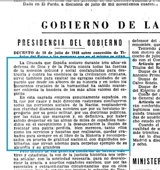 test Twitter Media - El Gobierno renueva el ducado con grandeza de España que el dictador Francisco Franco concedió póstumamente al fundador de Falange, José Antonio Primo de Rivera, en 1948. ¿Sigue reconociendo la democracia a los líderes fascistas? ¿Es un agravio a las víctimas? https://t.co/KzoIsk1TWq