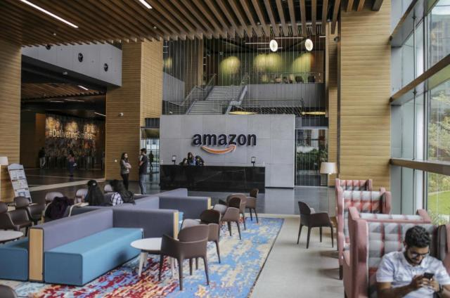 """BloombergQuint on Twitter: """"Inside Amazon's largest office, thousands of miles from Seattle. Read more: https://t.co/nDZhvTxK4E… """""""