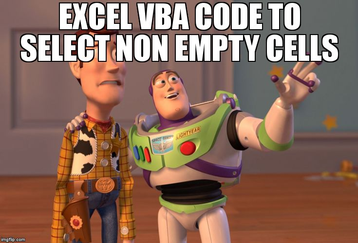Meme Overflow On Twitter Excel Vba Code To Select Non Empty