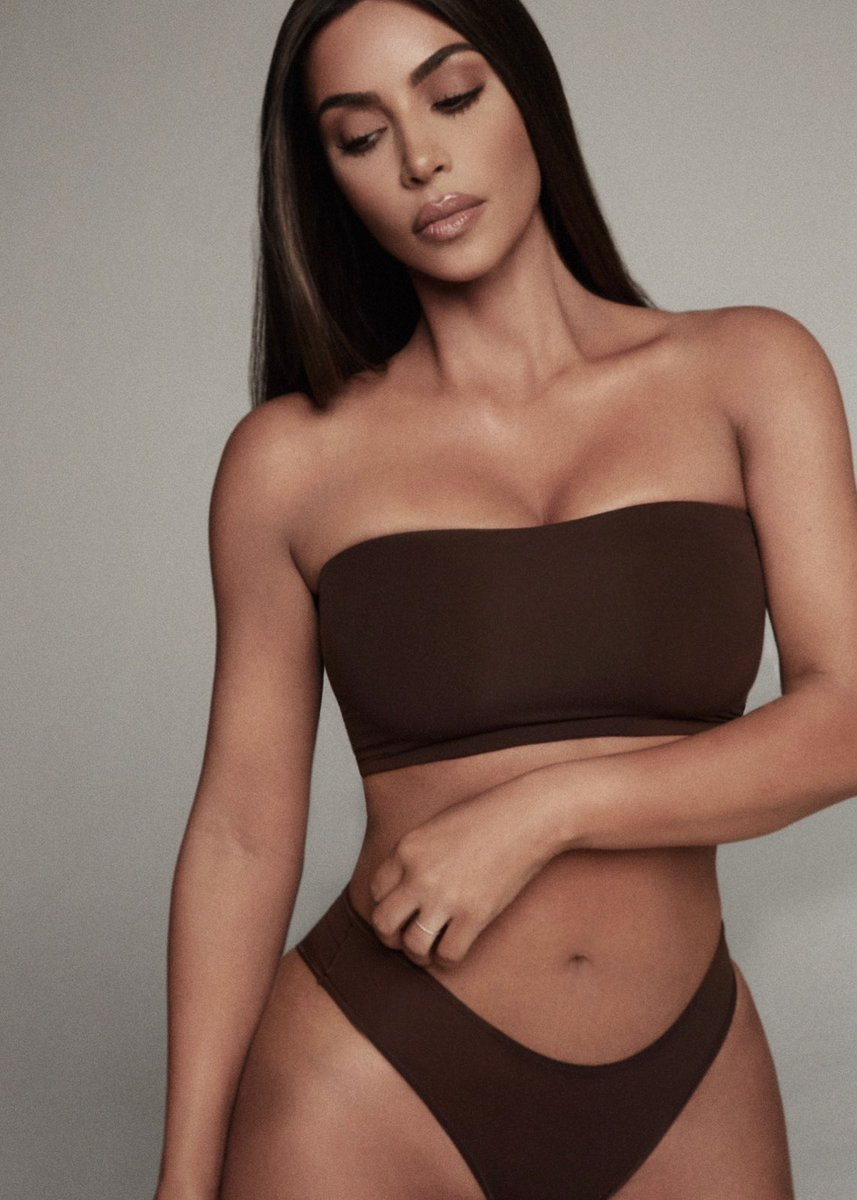 "SKIMS on Twitter: ""Kim Kardashian West (@KimKardashian) wears the Dipped  Front Thong ($19) in Cocoa. Shop the Dipped Front Thong in select sizes in  all colors now at https://t.co/Bn8kuwhTZx and enjoy free"
