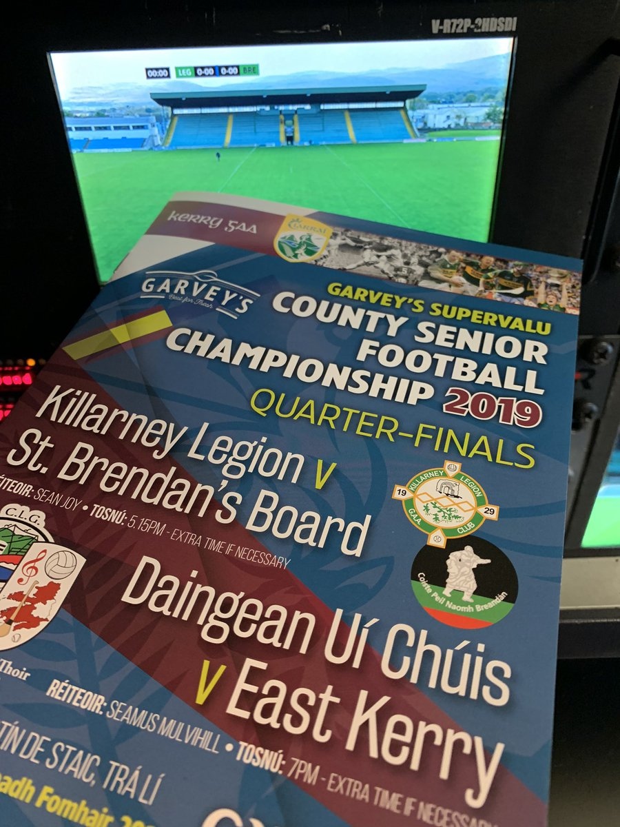 test Twitter Media - We are in Tralee today for the Kerry County Football Championship 2019 quarter finals, watch us live on RTÉ 2 from 17.00 https://t.co/ithbA49MlC