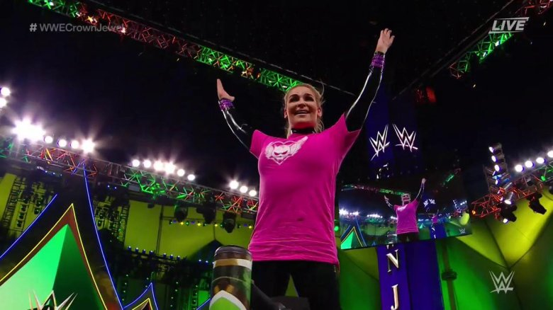 WWE Crown Jewel: Natalya Defeats Lacey Evans