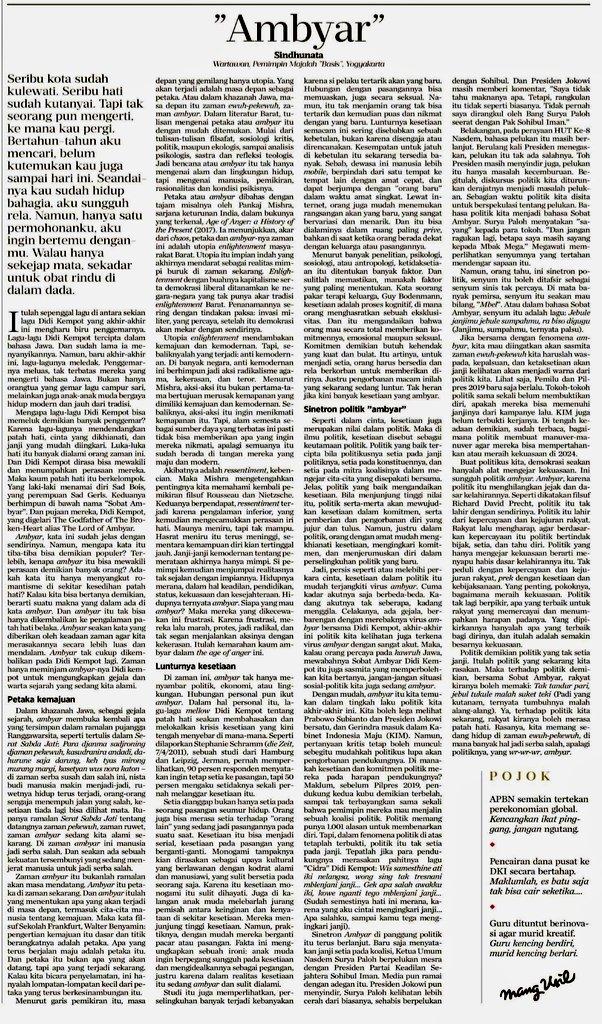 Nikolaus Harbowo On Twitter Refleksi Mendalam Dr Romo Sindhu