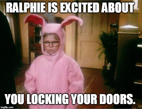 Ralphie S Bunny Suit Pajamas From Aunt Clara In A Christmas Story Christmas Movies A Christmas Story Movies