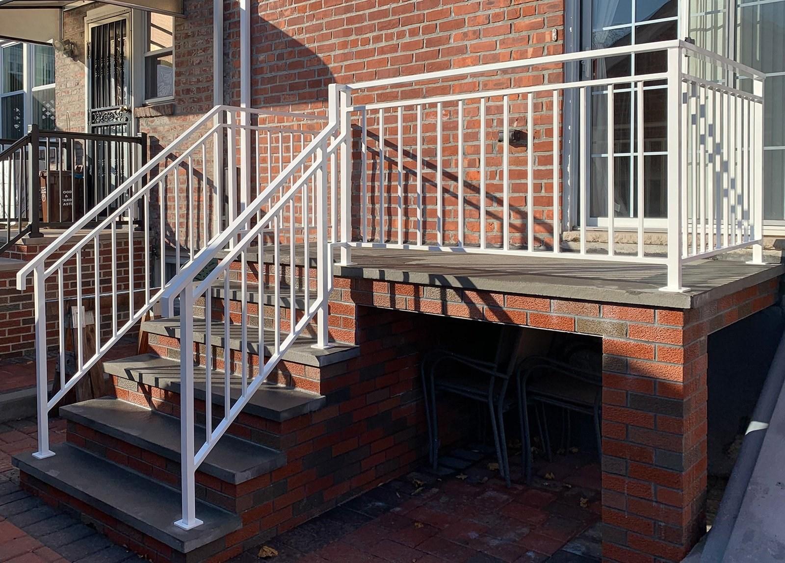 Long Island Custom Railings On Twitter Gloss White Exterior   Long Island Custom Railings   Stair Railing   Aluminum Railings   Stainless Steel   Grano Jr   Staircase
