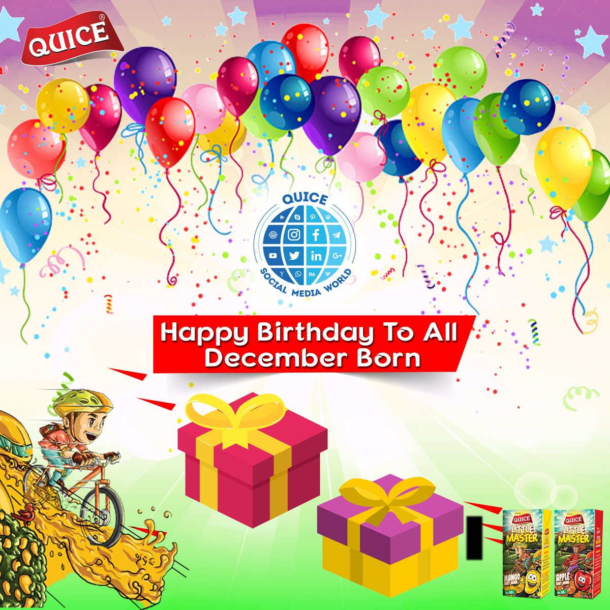 Quice Food Official On Twitter Wishing You All December Born A Very Happy Birthday 3 May You All Live A Prosperous And Happy Life Ahead Empower Your Birthday Celebration With Quice Quice Truly