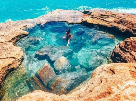 """Australia's North West on Twitter: """"💦 The best pools in life are free! 💦  . The rock pools at Gantheaume Point in Broome fill up on a high tide and  make an"""