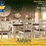 Ashley Furniture Homestore Kenya On Twitter Indulge In Modern Farmhouse Style At Its Best With The Marsilona Dining Room Set Its Two Tone Finish Of Weathered Russet Over Cottage White Is Made All