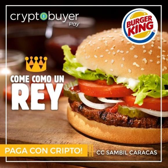 Bitcoin en Burger King de Venezuela