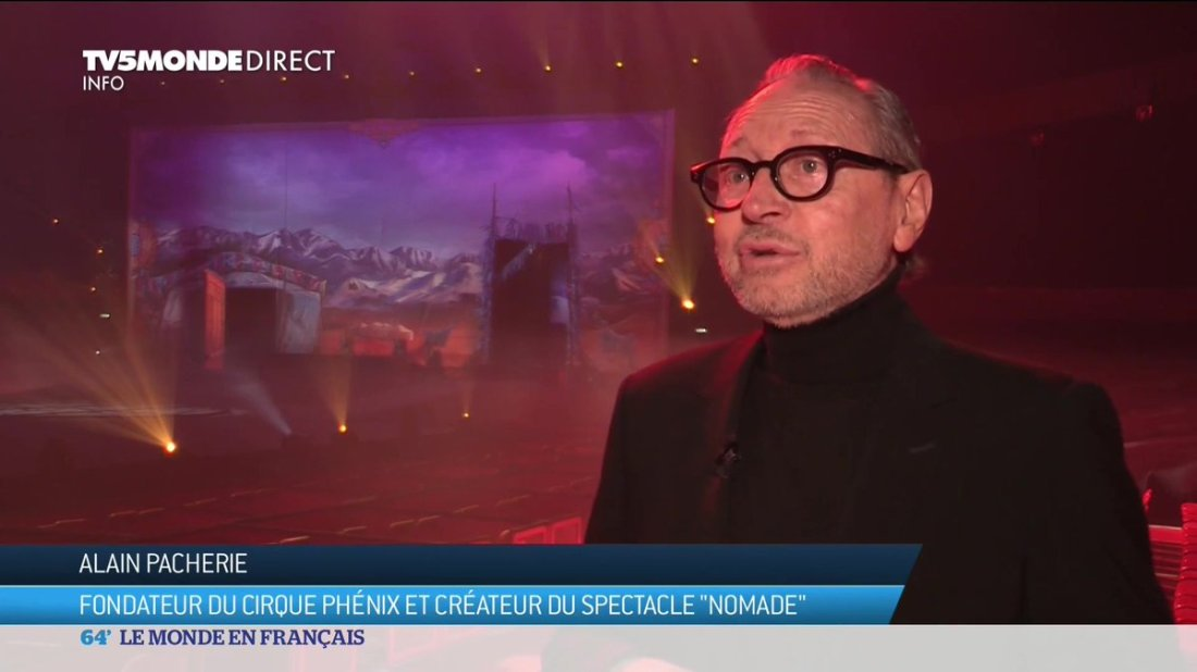 .@TV5MONDEINFO est entré dans les coulisses du #CirquePhenix et est parti à la rencontre d'Alain M Pacherie 🎥 « De la force et de la grâce. Des artistes qui, une fois sur la piste, brillent comme des étoiles », un grand merci à #TV5Monde pour ce fabuleux reportage 🙏
