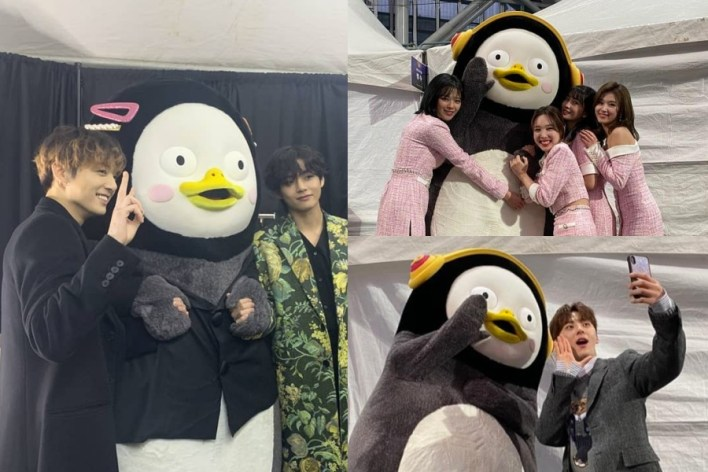 "Soompi على تويتر: ""#BTS, #TWICE, And #NUEST Have A Blast Taking Photos With  #Pengsoo https://t.co/bOgBlz55vn… """