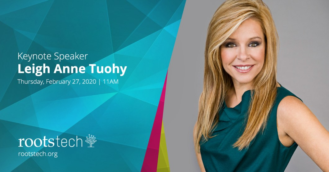The final Keynote speaker for RootsTech has been announced: Leigh Anne Tuohy. Get your tickets now! See you there!    @RootsTechConf #RootsTech10