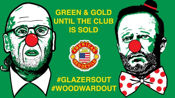"""AmericanRedDevils on Twitter: """"Get these clowns out of our club!  #glazersout #woodwardout #sackwoodward #mufc… """""""