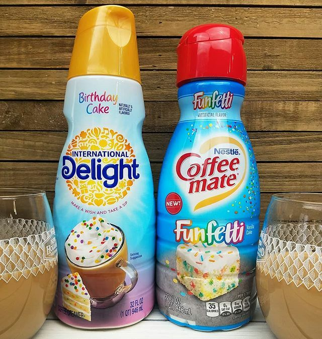 Candy Hunting On Twitter Here Are Both The New Birthday Cake International Delight And The Funfetti Coffee Mate Creamers This Battle Of The Coffee Creamers Was Unfortunately Too Close To Call When