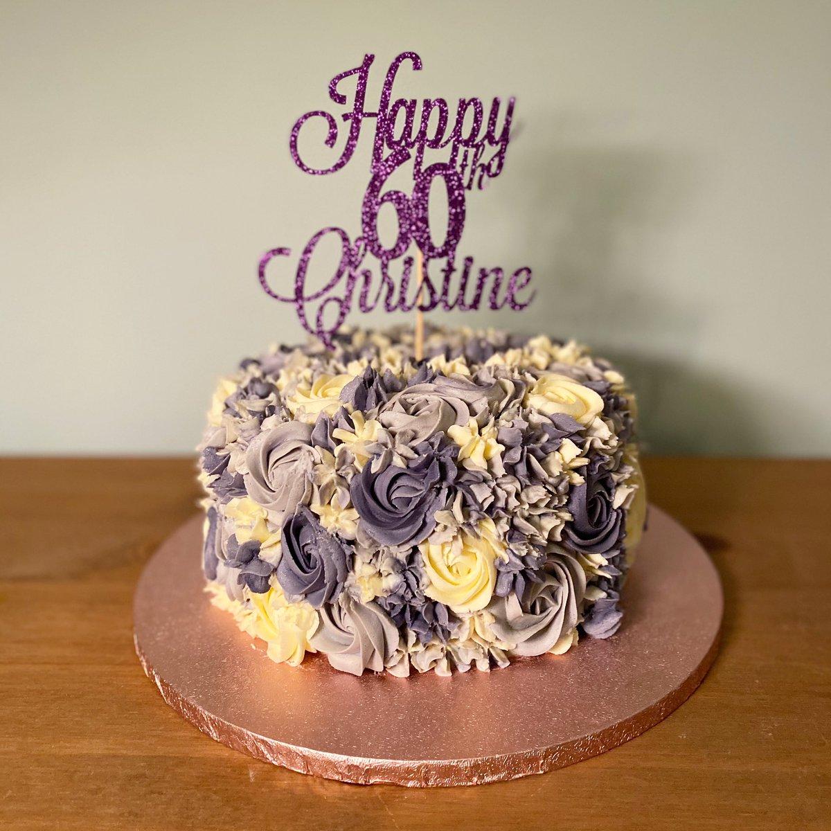 Cakes By Kinane On Twitter Happy 60th Birthday Christine Topper As Always Sunshineoccasions Cakesbykinane Birthdaycake