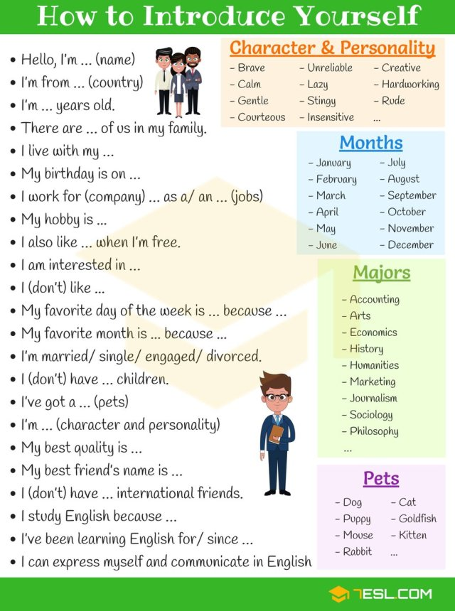 """English Idioms on Twitter: """"How to Introduce Yourself in English"""