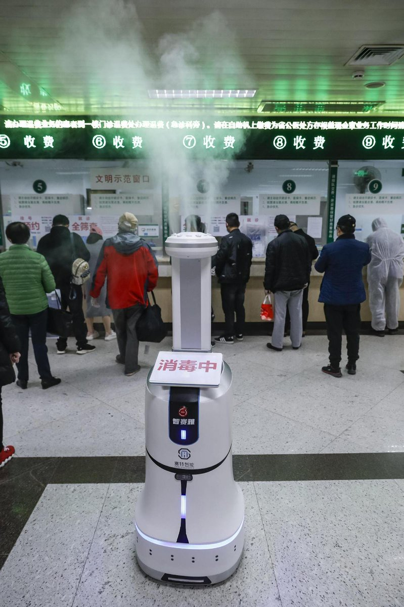 test Twitter Media - #Disinfecting #robots are on duty in a #Wuhan hospital. The robot can spray disinfectant at designated spots and finish operations automatically, depending on the disinfectant concentration in the air. https://t.co/AhPS33BabG