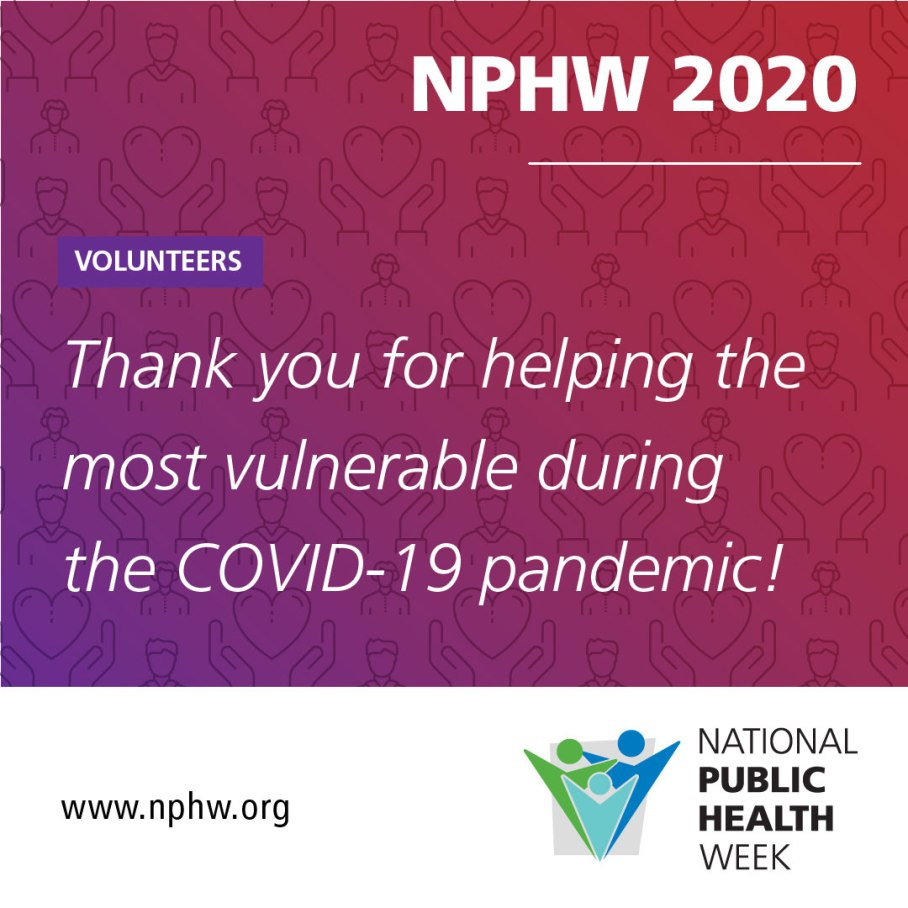 We are thankful for the 1K student volunteers that have been connected to over 30 local health departments to assist with case tracing, public messaging and communication! #ThankYouPublicHealth #NPHW