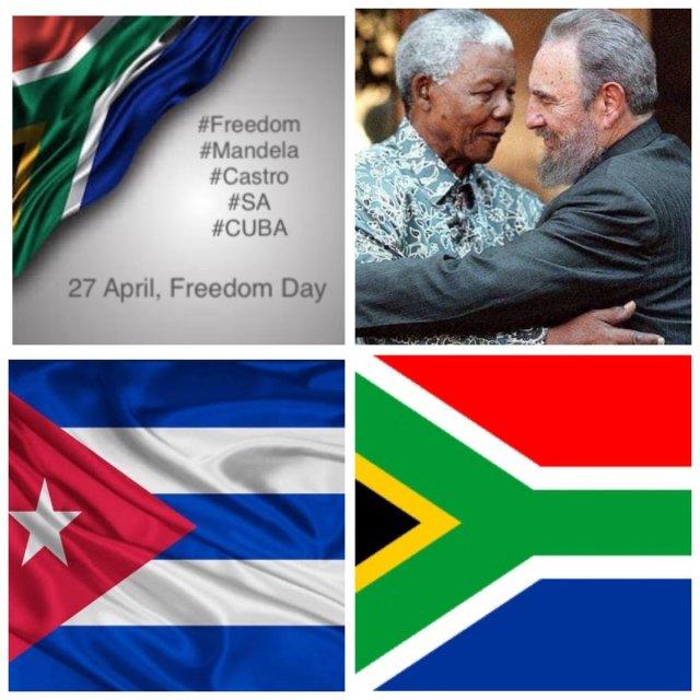 "ALVIN (Ali Cat) BOTES's tweet - ""#Freedom is #Mandela is #Castro ..."