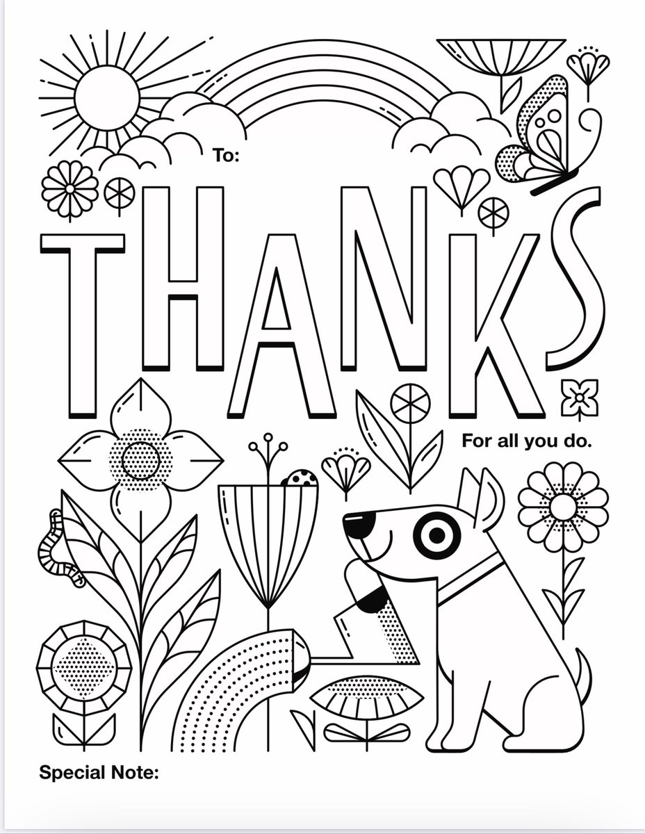 Michele Foley On Twitter Here Are Some Fun Coloring Pages To Use For Anyone You Want To Thank Thank You Target Connorcougars Sufferncsd Https T Co Miortkkwon