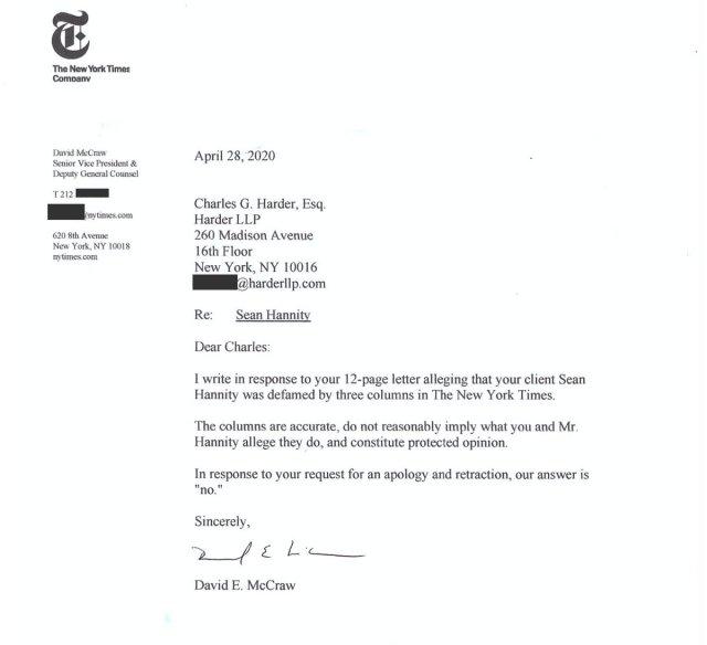 "Oliver Darcy on Twitter: ""New York Times lawyer David McCraw"
