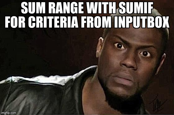 Meme Overflow On Twitter Sum Range With Sumif For Criteria From