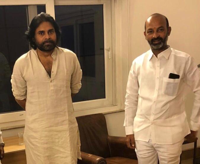 "Bandi Sanjay Kumar on Twitter: ""Met Shri @PawanKalyan Garu & had a fruitful discussion on Current Issues.… """