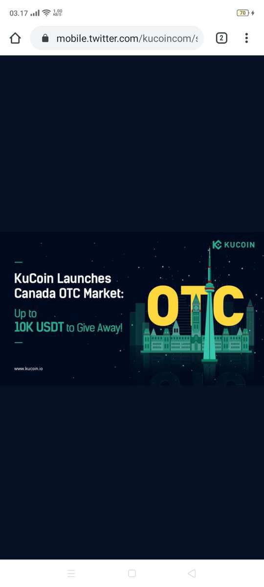 To celebrate #KuCoin's opening of the Canada OTC Market, more than 10K $USDT wil... 2