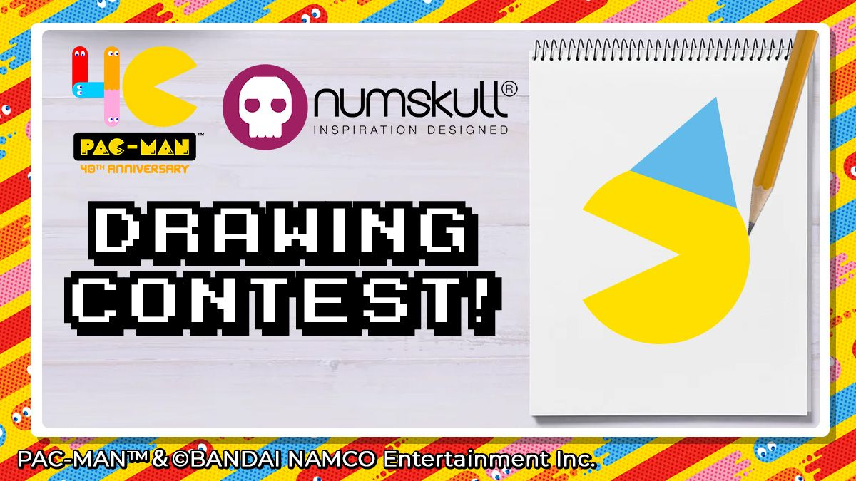 O Xrhsths Bandai Namco Uk Sto Twitter Calling All Budding Artists Draw Pac Man At His Birthday Party Pacmandrawingcontest Official Pac Man Goodies Up For Grabs For 3 Winners Tag Numskulldesigns To Share Drawings