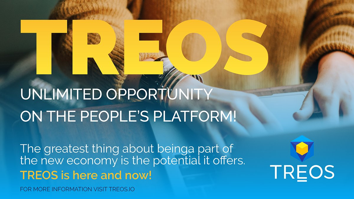 We live in a time where we can work together to grow a new economy... #TREOS!   ... 1