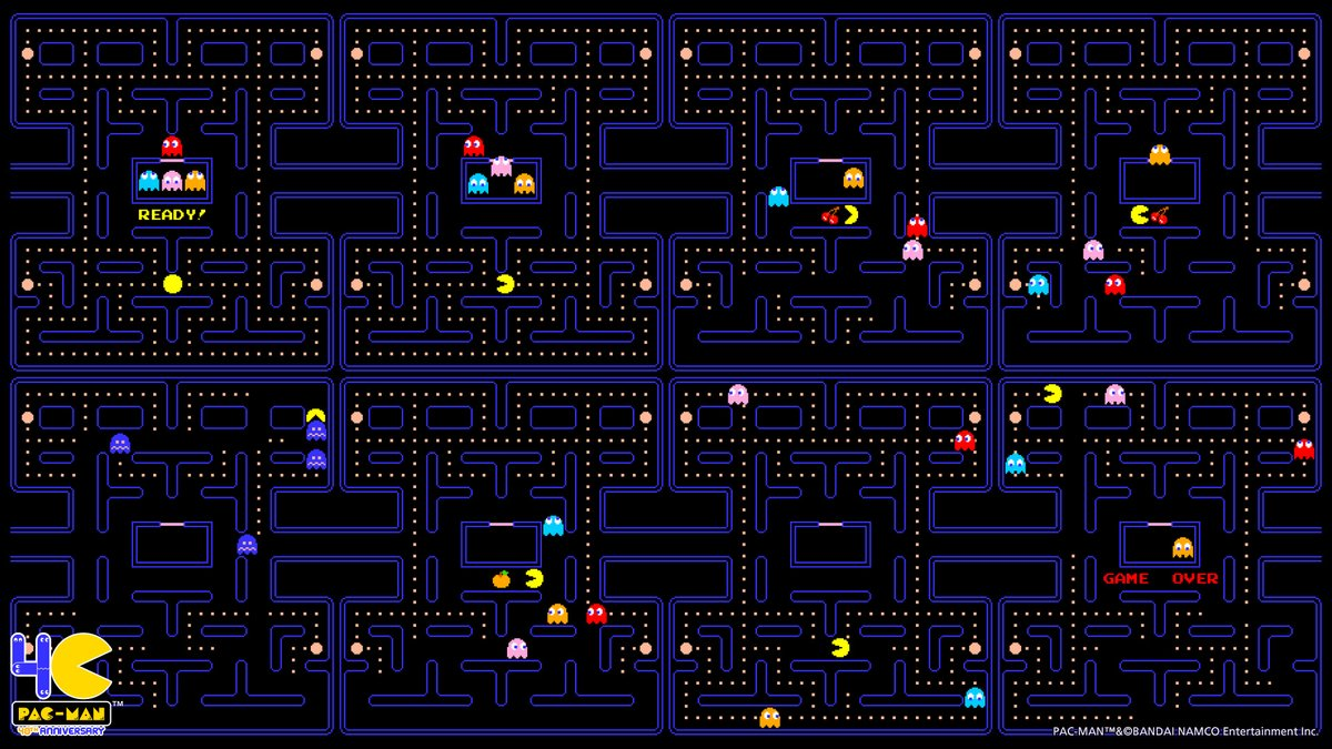 Pac Man Official On Twitter Get Ready For Pac Man S Birthday Next Friday 5 22 With These All New Wallpapers Pacman40th