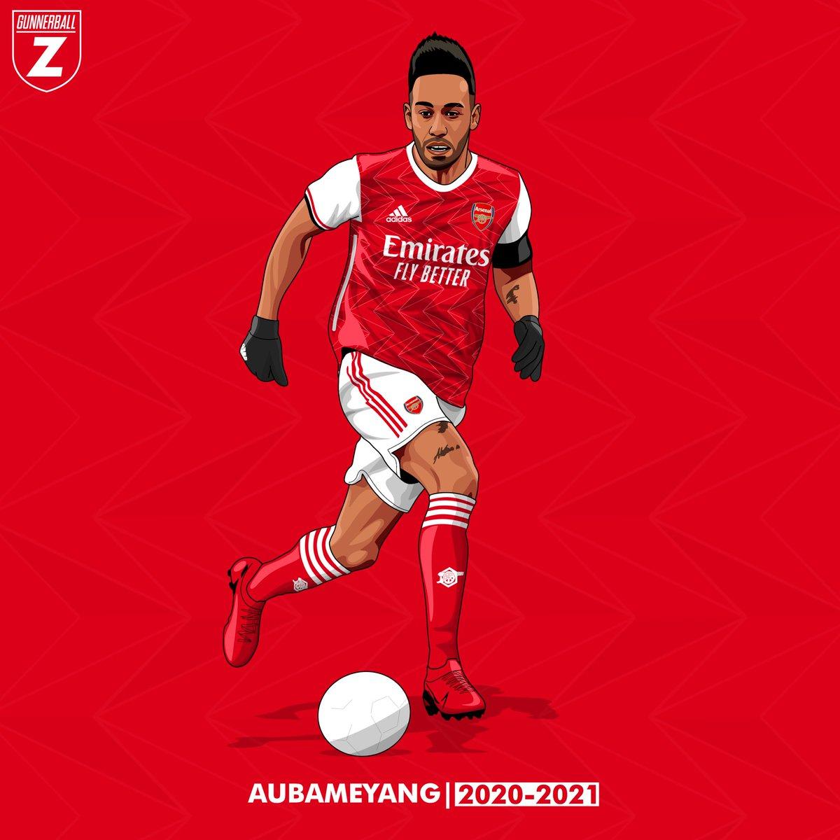 aubameyang 2020 2021 home kit
