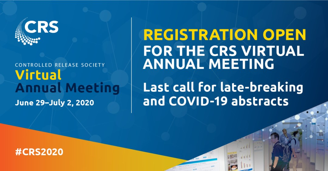 This is going to be amazing thanks to the @CRSScience annual meeting programming committee chaired by @think_little and vice-chair Mark Prausnitz. Please sign up and do your best to help get others to do the same. I promise you will not be disappointed. #CRS2020  #CRS2020vAM https://t.co/NIXs628lwT
