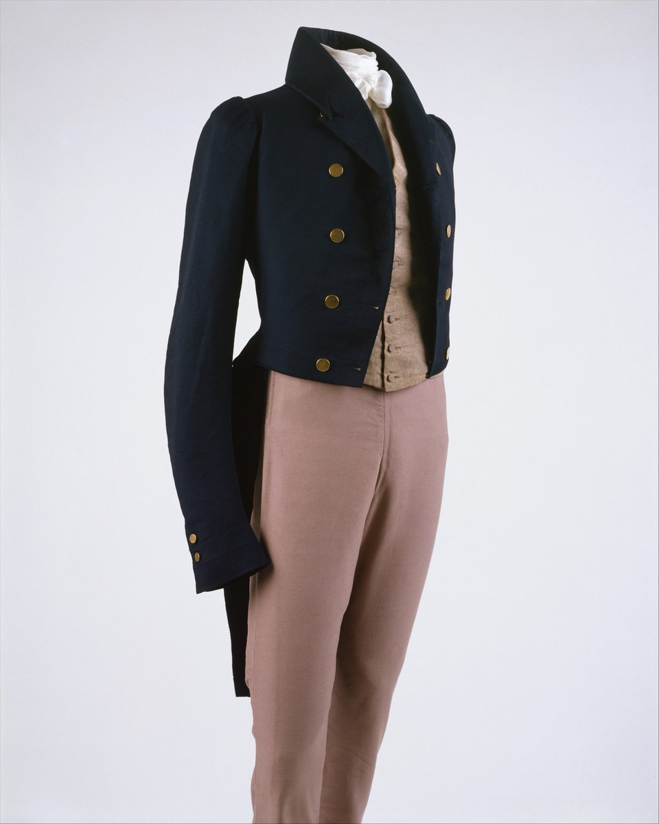 From the Met description: The well-padded upper chest has generally been a sign of masculine power, although there have been periods when a less muscular silhouette has prevailed. When a full chest was preferred, wool felt or cotton padding-sometimes an inch thick, as here-was inserted between a man's jacket and its lining.