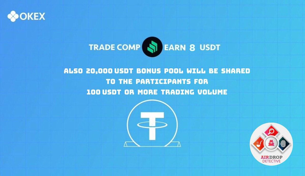 New #Airdrop: OKEx   Reward: 8 USDT + Share from 20,000 USDT Pool   Register on... 1