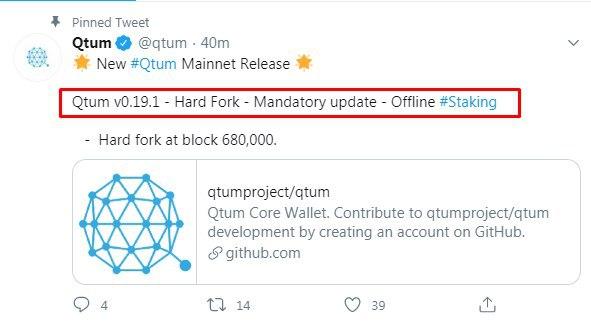 #Qtum moon soon  join  Chart looking good...breakout soon  Offline  Staking  & h... 2