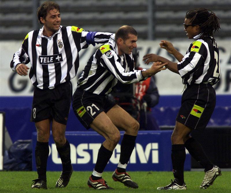 "90s Football on Twitter: ""Antonio Conte, Zinedine Zidane and Edgar ..."