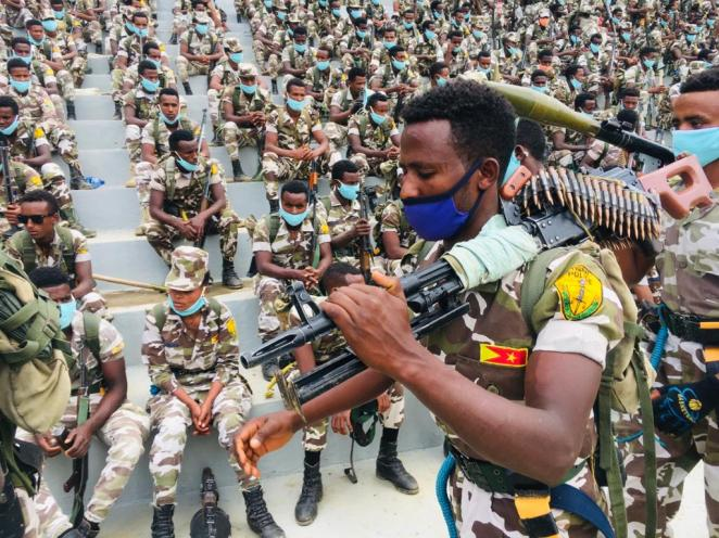 """Addis Standard on Twitter: """"#Tigray regional state held a militarily parade  y'day as members of its special forces & militia went to the streets in  #Mekelle. Comes 2 days after news of #"""