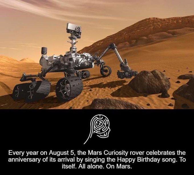Eric Alper Auf Twitter Happy Birthday Curiosity Rover