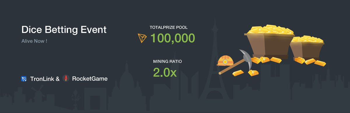 Dice Betting Event, win 100,000 $TRX! Aug 06 - 13  go :   With a giveaway: We'll... 2