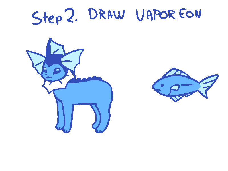 Luxx On Twitter How To Draw Vaporeon Tail In 4 Easy Steps