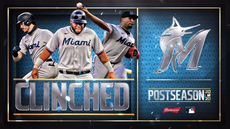 """MLB on Twitter: """"For the first time in 17 years, the @Marlins are in the  postseason! #CLINCHED… """""""