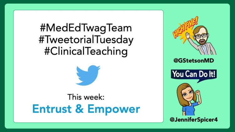 MedTweetorial: #Tweetorial Author: @JenniferSpicer4  Type: #NarrativeMed #MedEd Specialty: Topics: #Trust #Empower #Supervision #Autonomy #MedEdTwagTeam #ClinicalTeaching