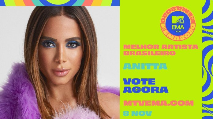 "Central Anitta on Twitter: ""Anitta foi indicada na categoria 'Melhor  Artista Brasileiro' do MTV EMA 2020! #MTVEMA Vote pelo link:  https://t.co/Qd9VxPKQ04… https://t.co/KbkXwFuyha"""