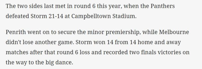 Hmmm @NRL_Dragons.. I guess they have nil memories from Round 15. 😉 #PARRAdise